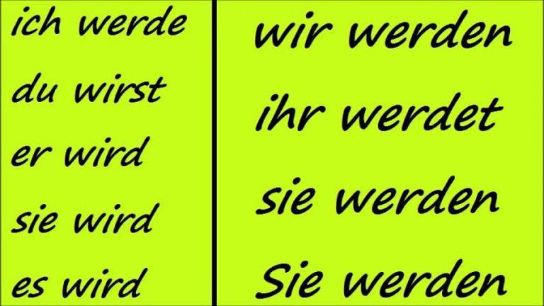 صرف فعل werden در آلمانی