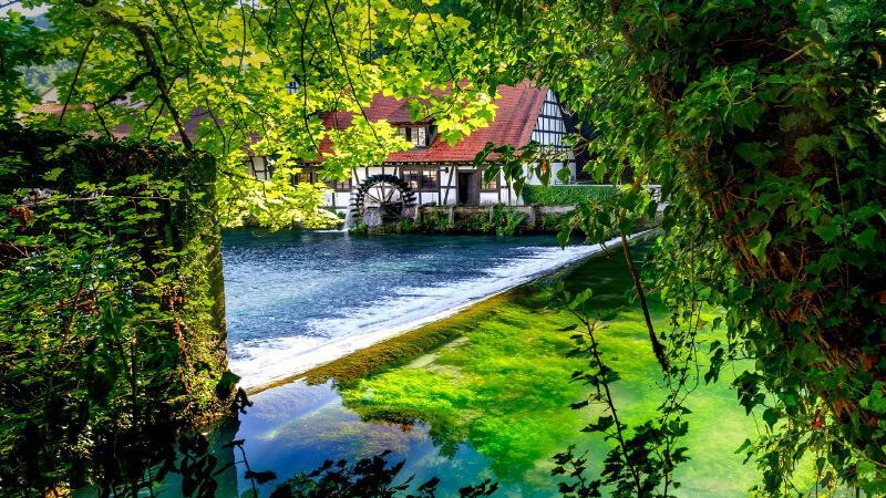 جاهای دیدنی آلمان- چشمه بلاوتاف آلمان