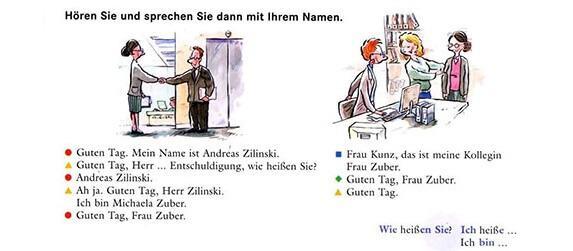 معرفی در زبان آلمانی